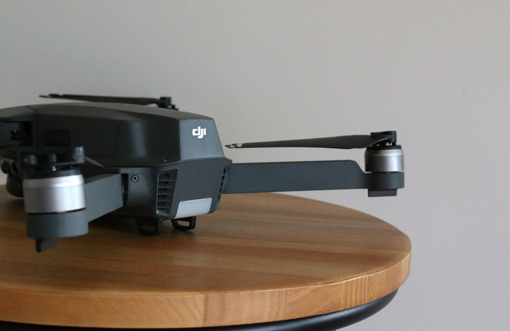 DJI Mavic Pro on a stool