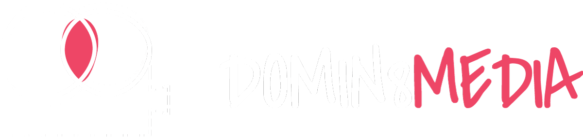 domin8 designs logo in white