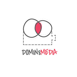 logo for domin8 designs