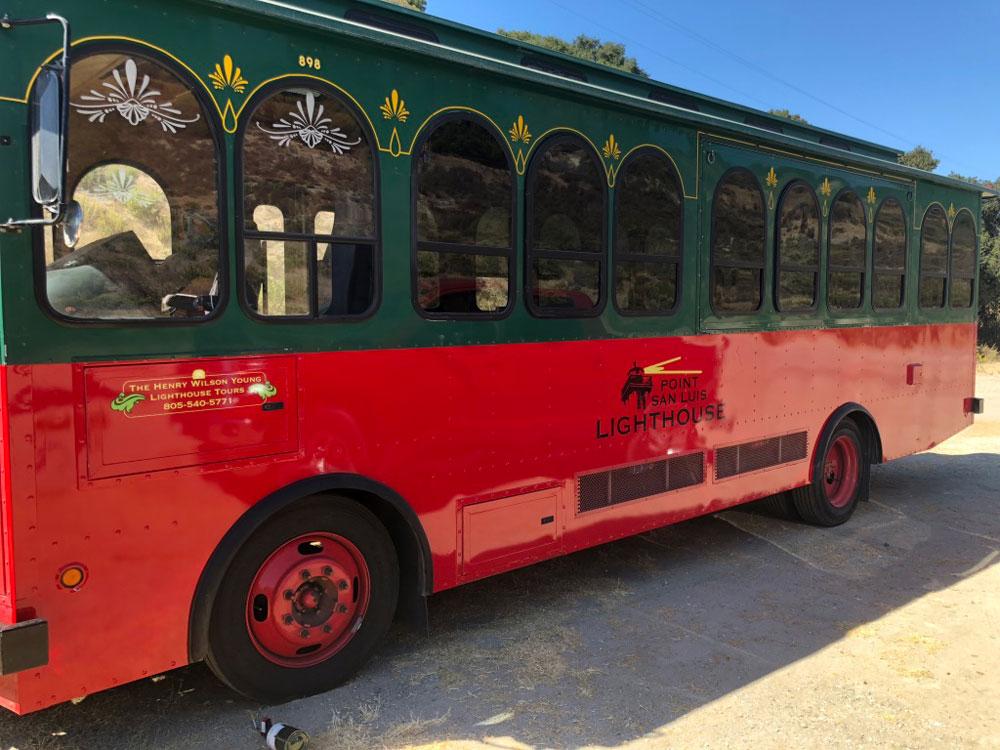 Lighthouse bus wrap
