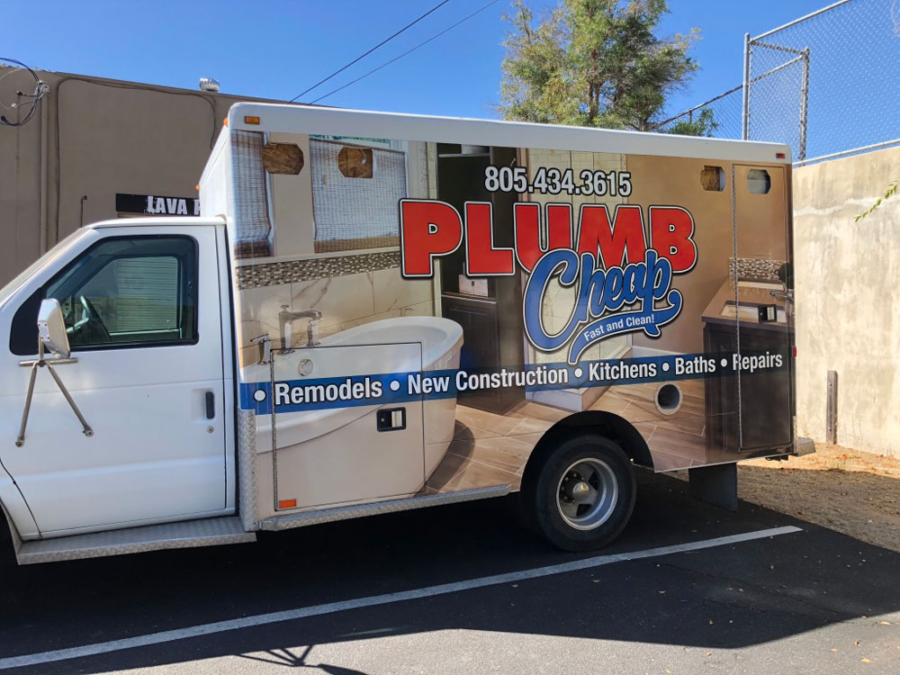 Plumb cheap utility truck wrap