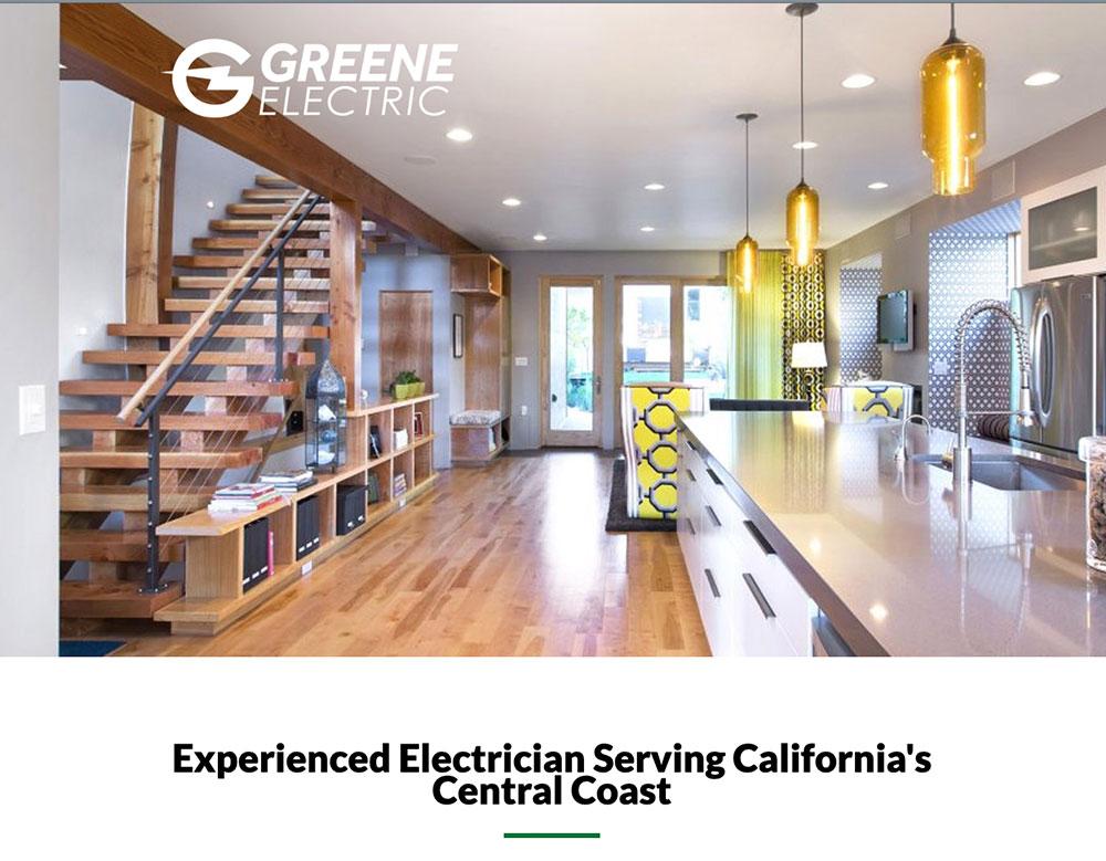 green electric website design