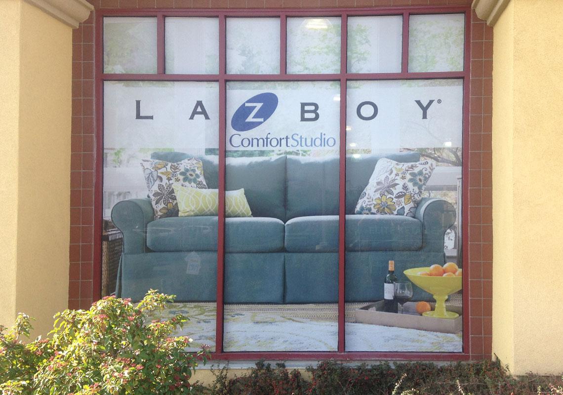 LaZBoy window graphics