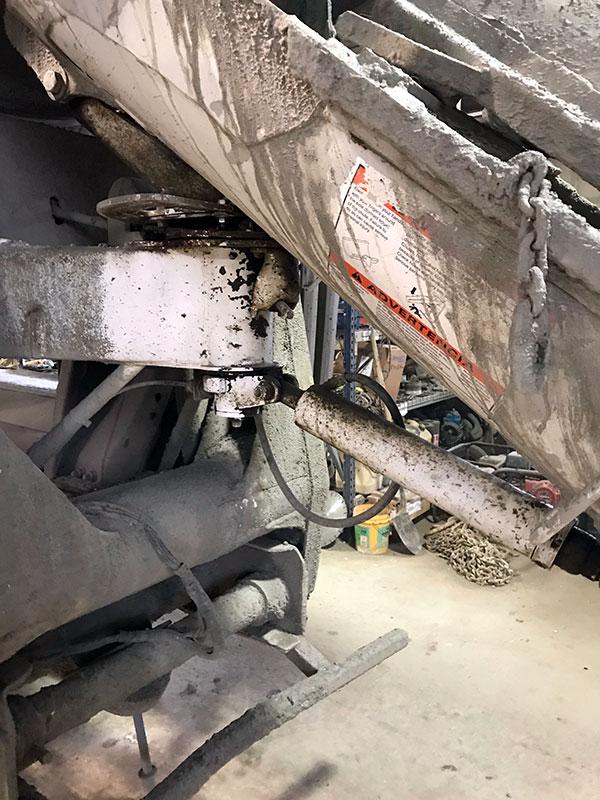 Concrete Truck Ice Blasting