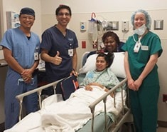Dr. Rajiv Pandit and team visiting a patient.