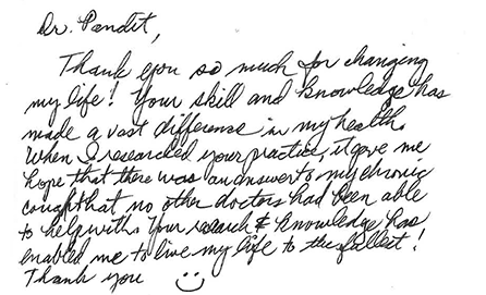Patient Testimonial Letter