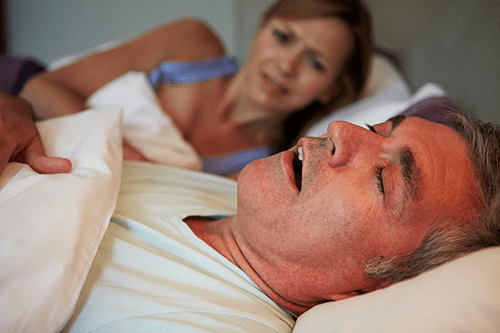 spouse of snorer being kept awake