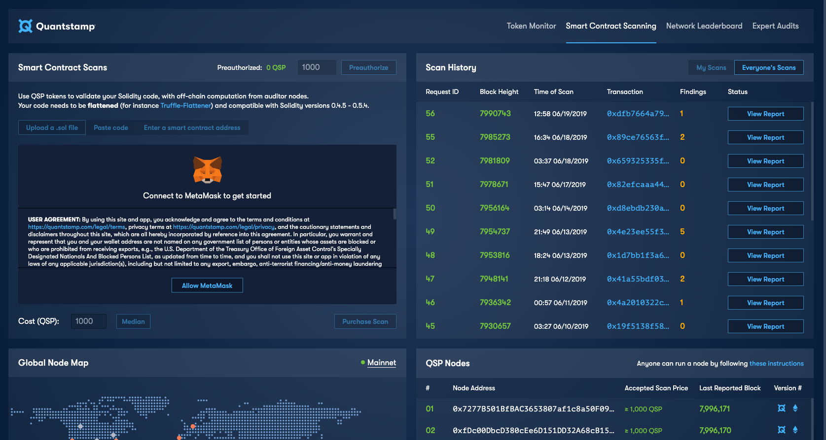 The Quantstamp Security Network V2 is Now Live on Ethereum Mainnet