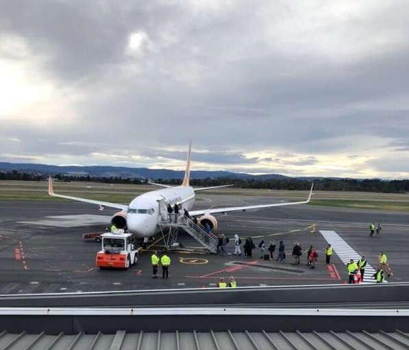 First push back at Hobart Airport   News   Hobart Airport