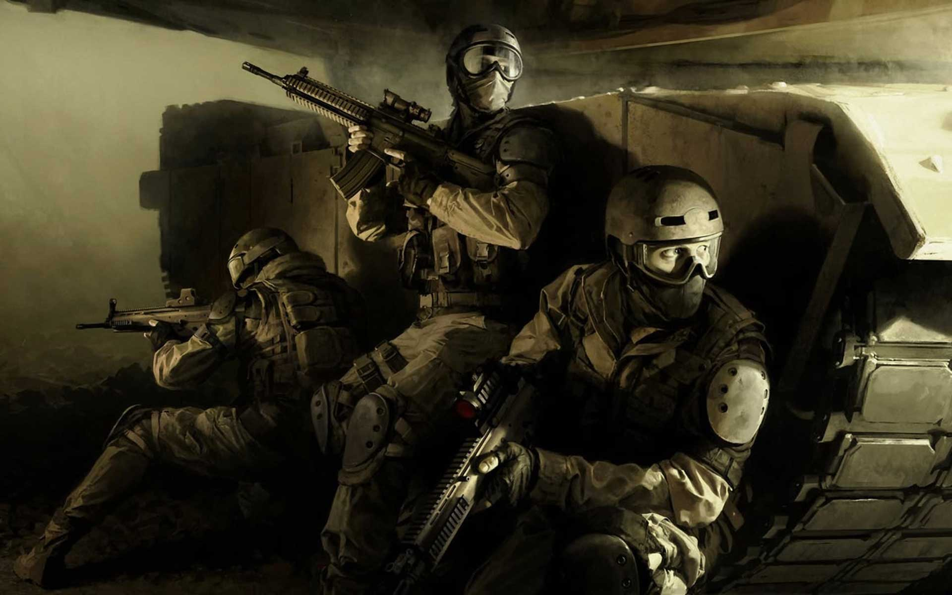 image of modern warfare soldiers