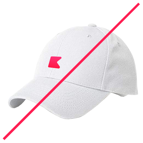 No branded hat
