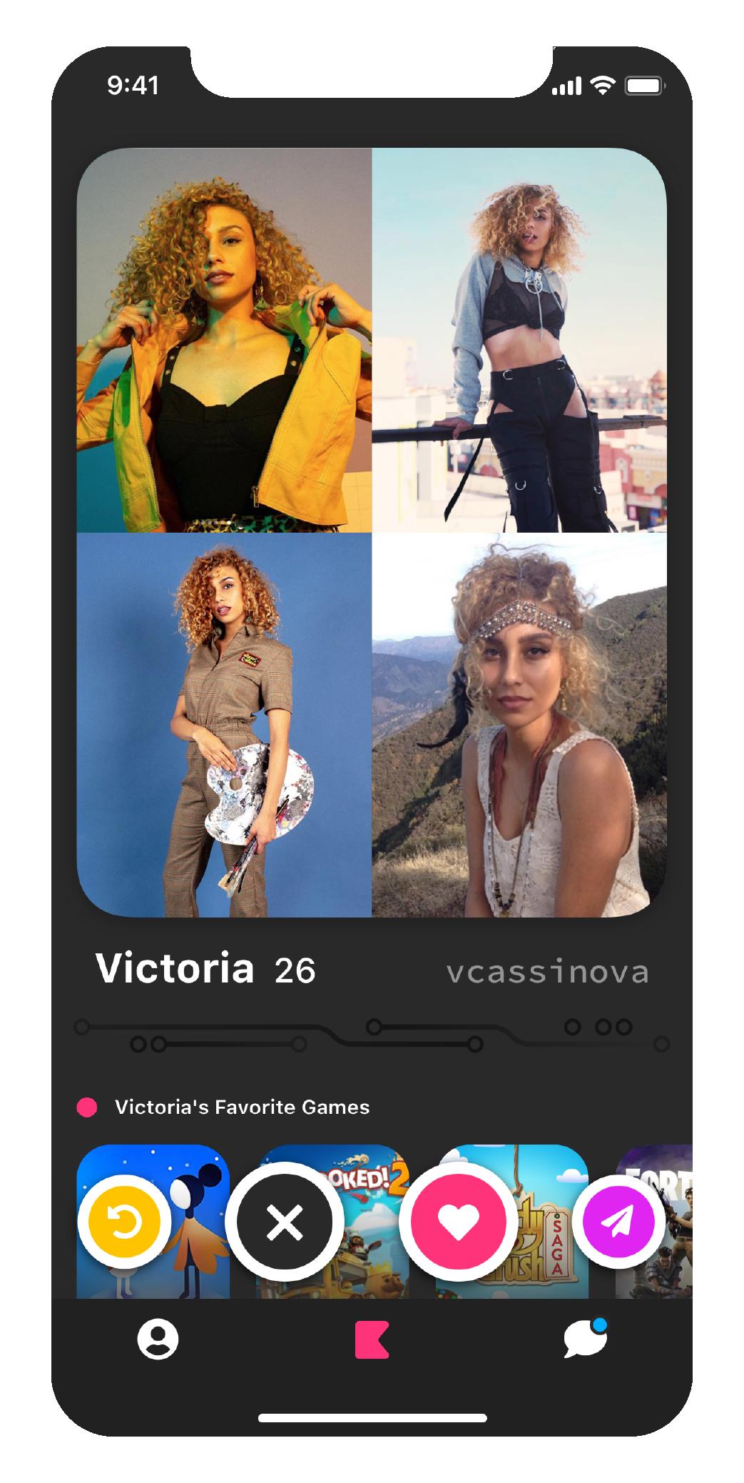 Victoria's profile screenshot