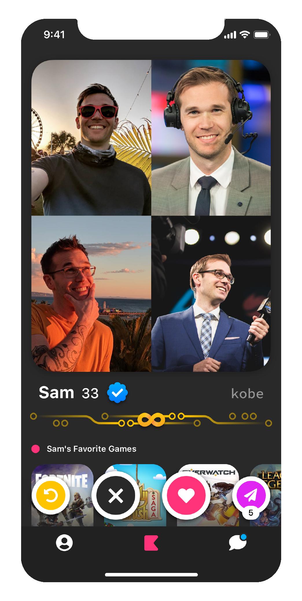 Sam's profile screenshot
