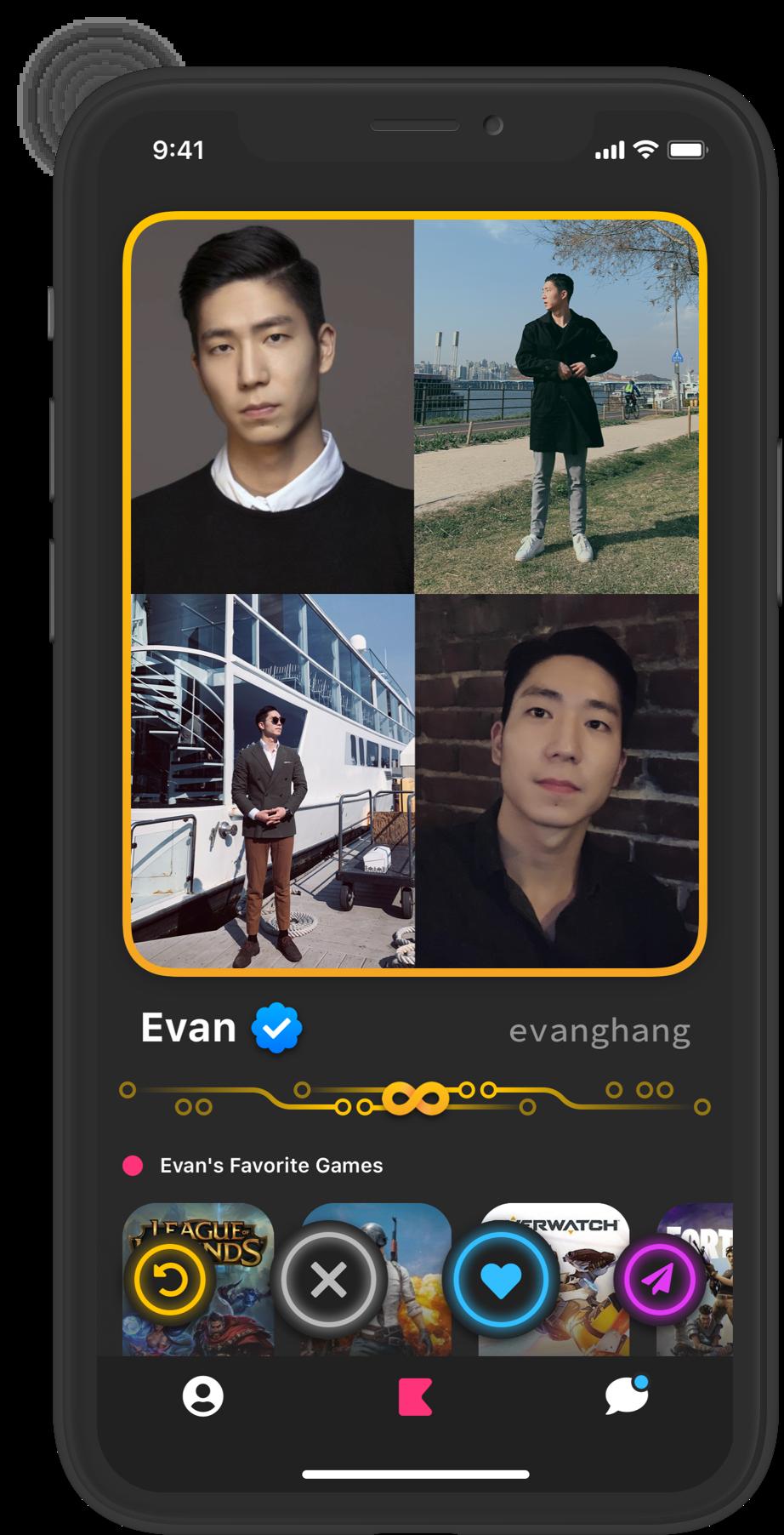 Evan's profile screenshot