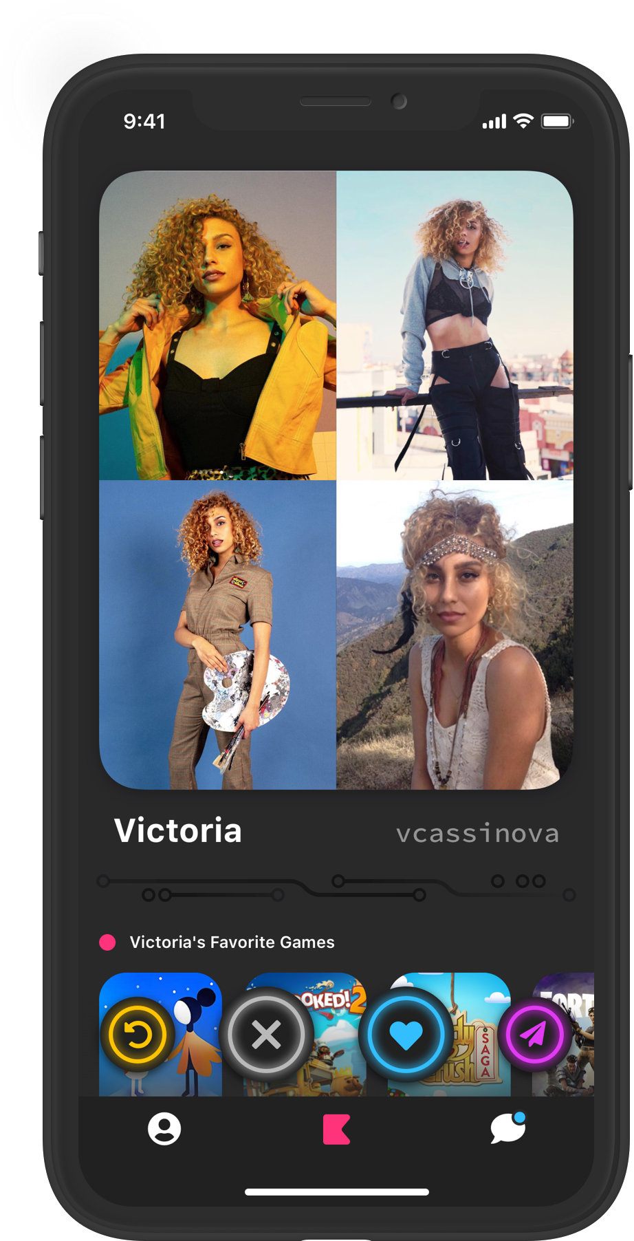 Victoria's profile screenshot
