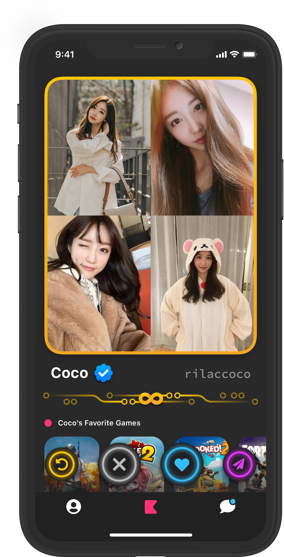 Coco's profile screenshot