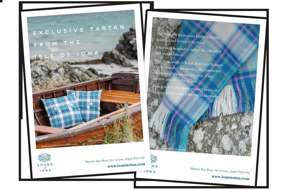 Sound of Iona A6 postcard  Skein Agency digital design marketing Glasgow