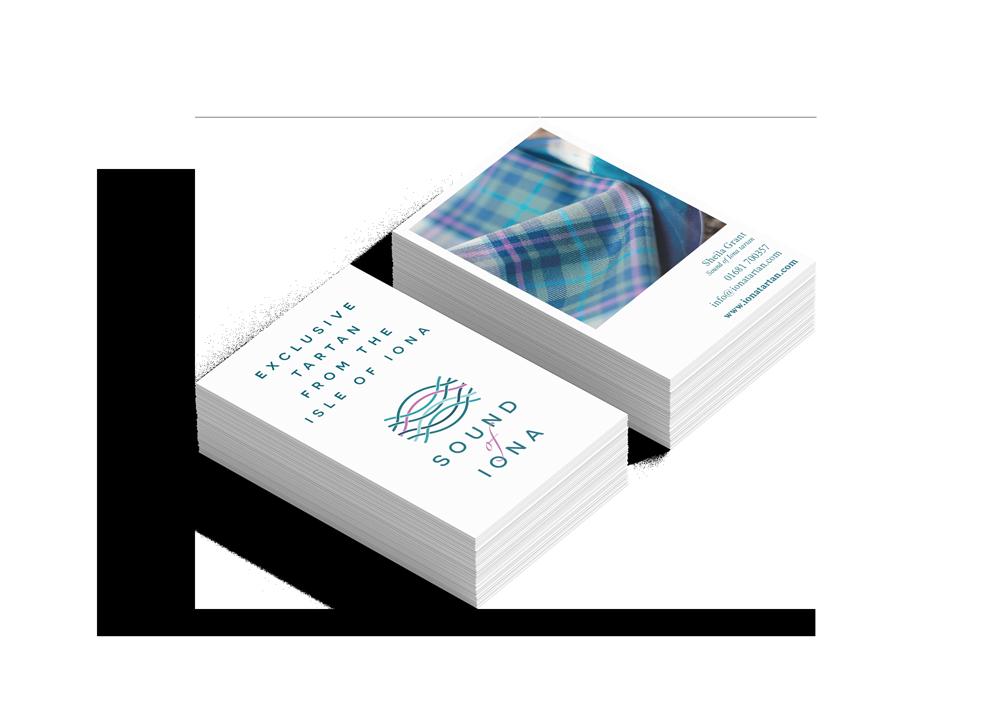 Sound of Iona business cards  Skein Agency digital design marketing Glasgow