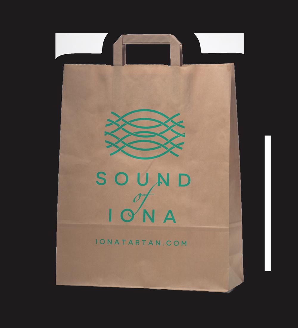Sound of Iona paper gift bag  Skein Agency digital design marketing Glasgow