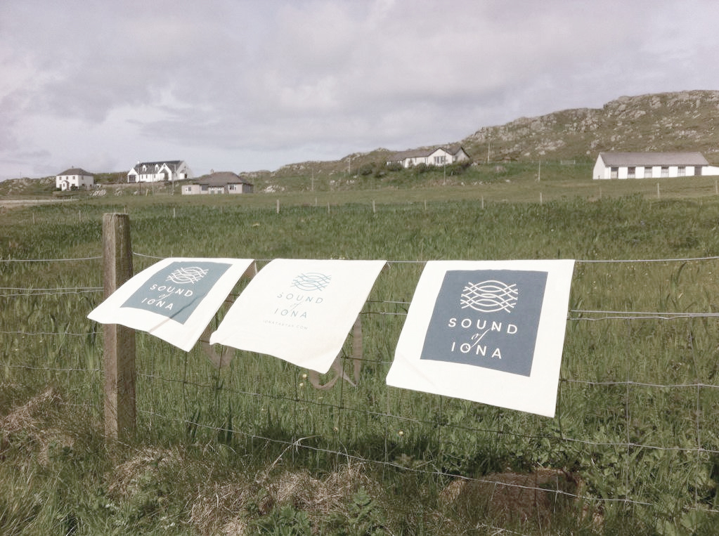 Sound of Iona printed tea towels  Skein Agency digital design marketing Glasgow