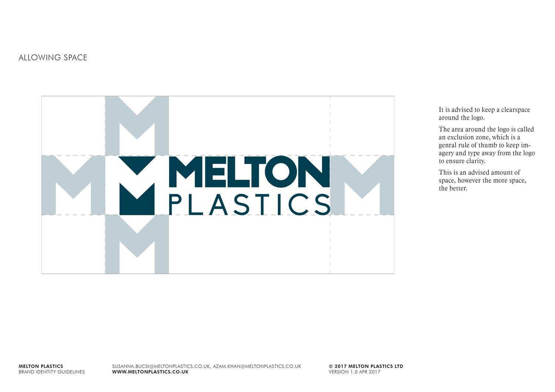 Melton Plastics logo clearspace Skein Agency digital design marketing Glasgow