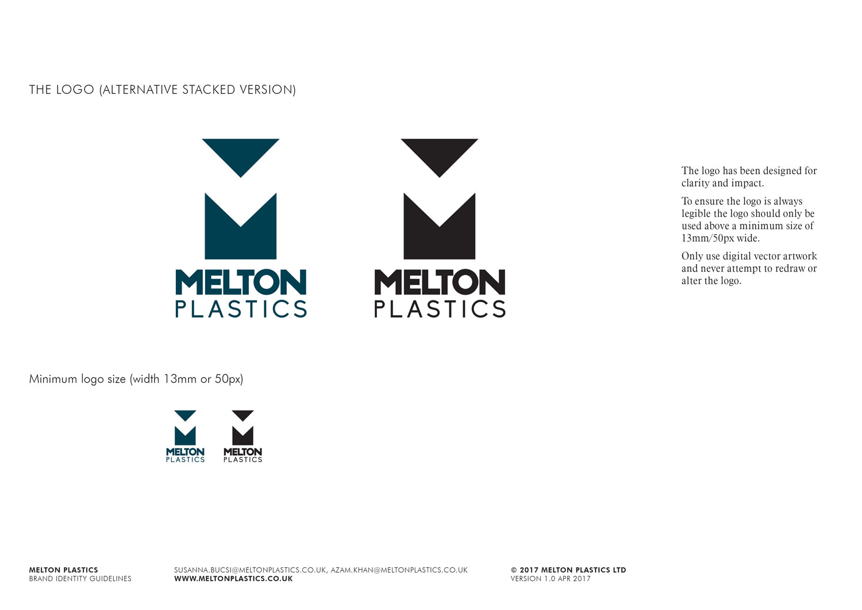 Melton Plastics stacked logo Skein Agency digital design marketing Glasgow