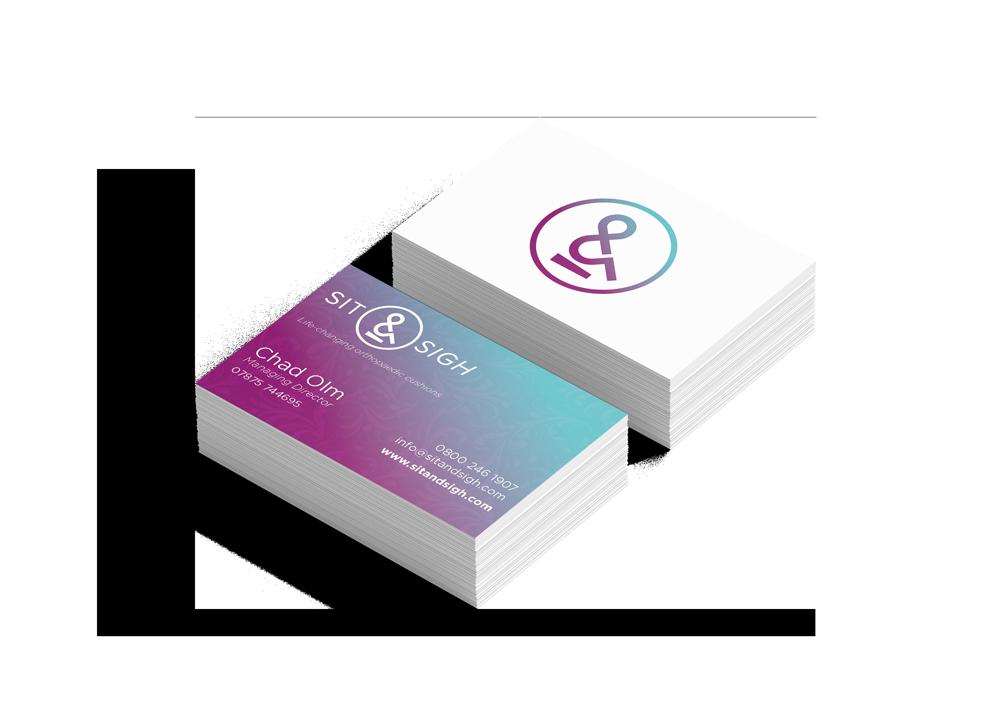 Sit & Sigh business card design stationery Skein Agency digital design marketing Glasgow