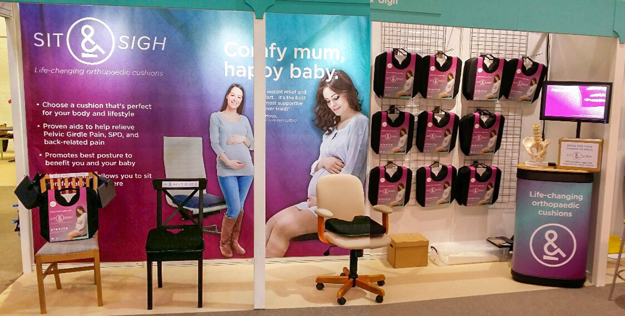 Sit & Sigh exhibition stand design Skein Agency digital design marketing Glasgow