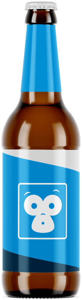 Beer bottle with Bristol Labels branded packaging