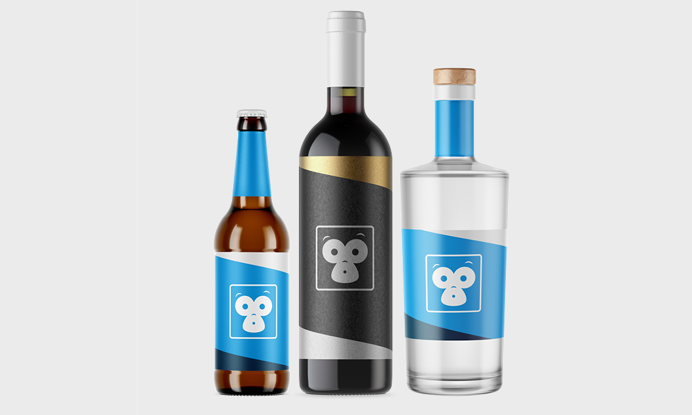 beers, wines and sprits label printing image