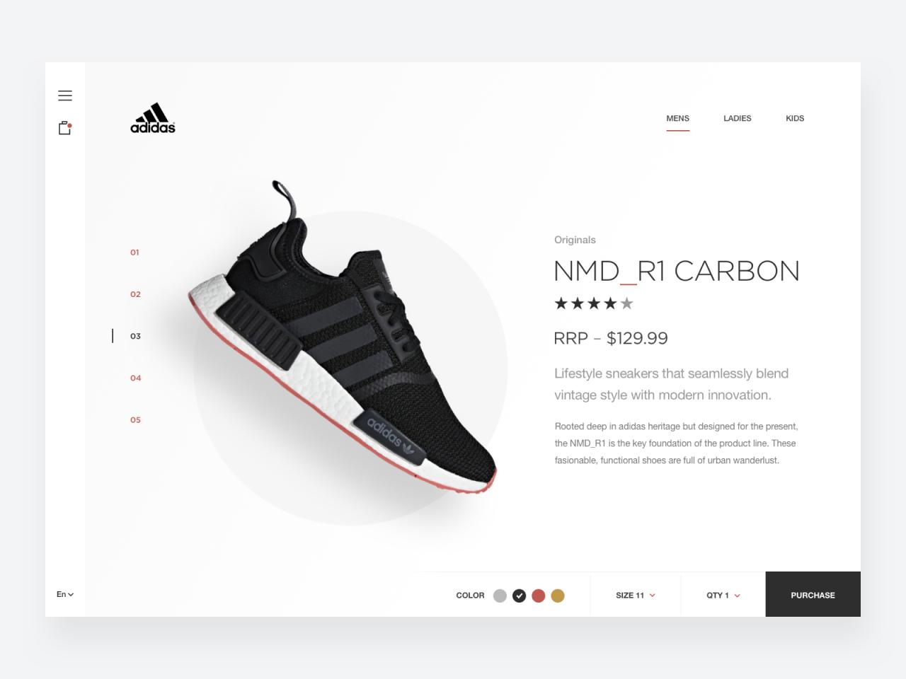 Adidas Shoe Store Web Design Concept
