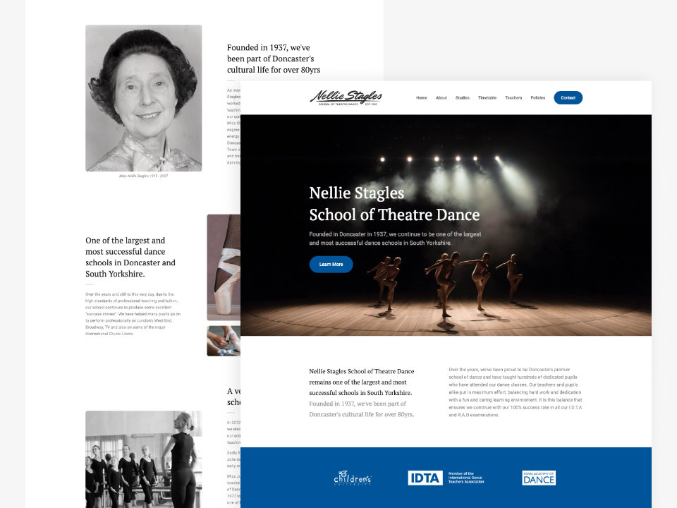 Client Website, Nellie Stagles