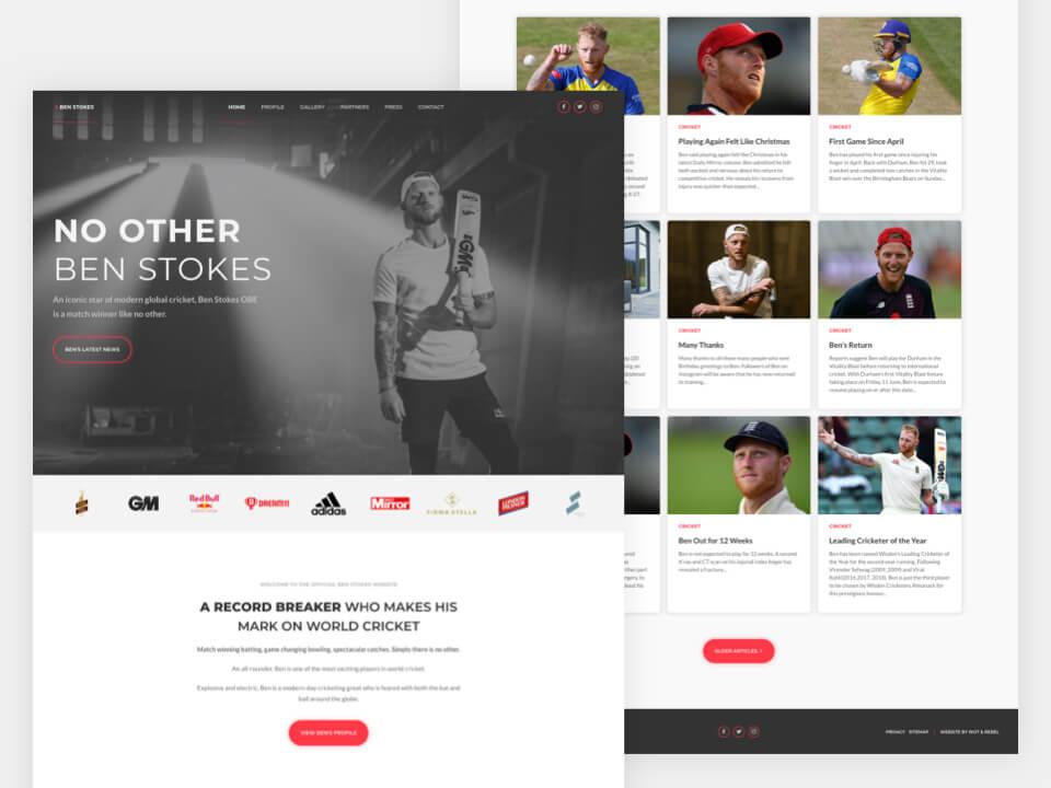 Client Website, Ben Stokes Official