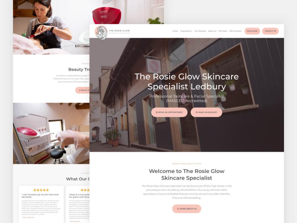 Client Website, The Rosie Glow