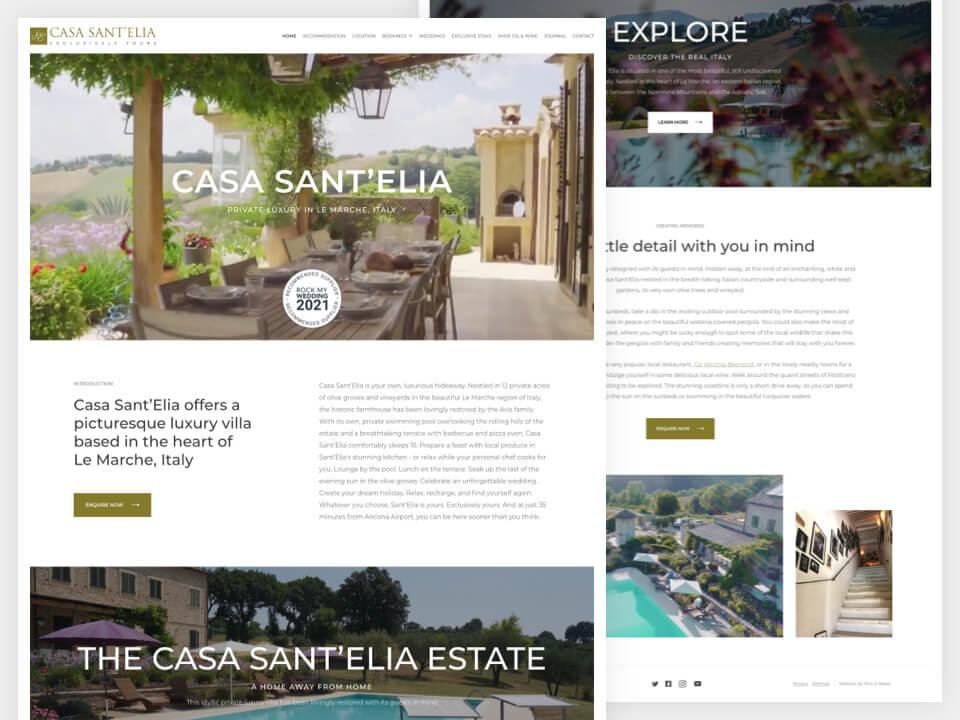 Client Website, Casa Sant Elia