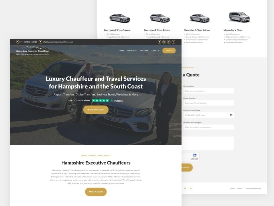 Client Website, Hampshire Chauffeurs