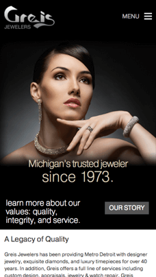 jewelry ecommerce site design