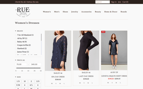 ecommerce design example