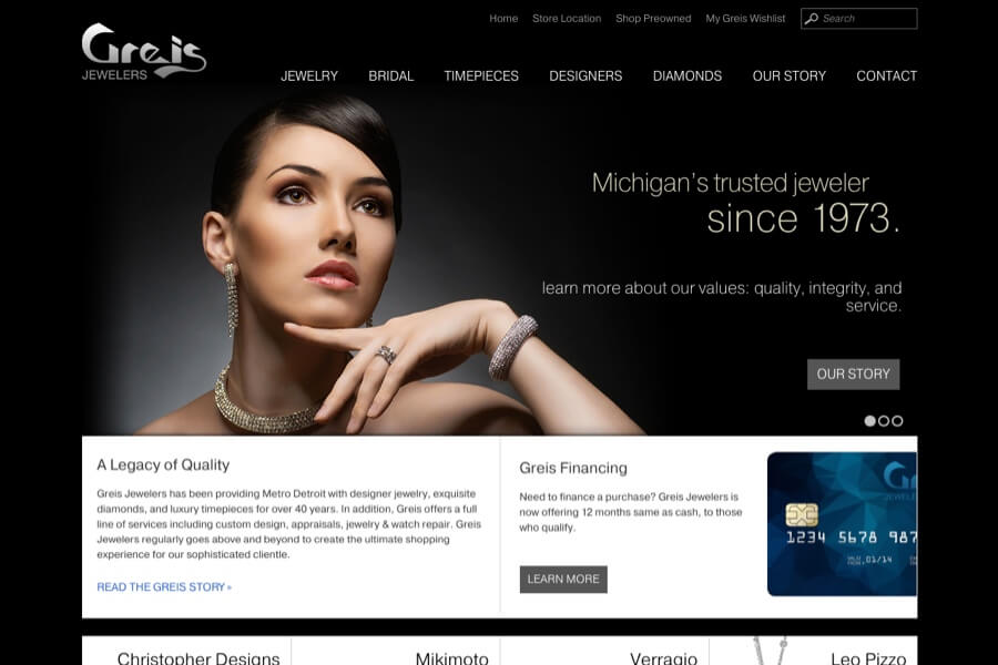 Jewelry Store Ecommerce Design