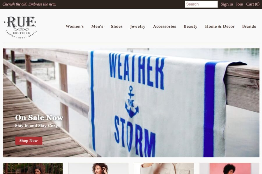 Clothing Store Small Business Ecommerce Design