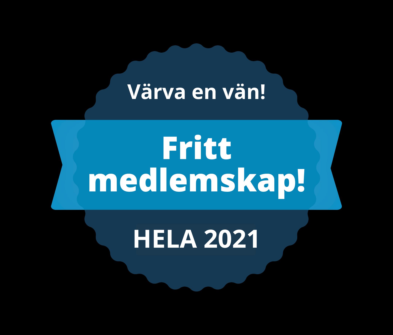 Fritt medlemskap hela 2021