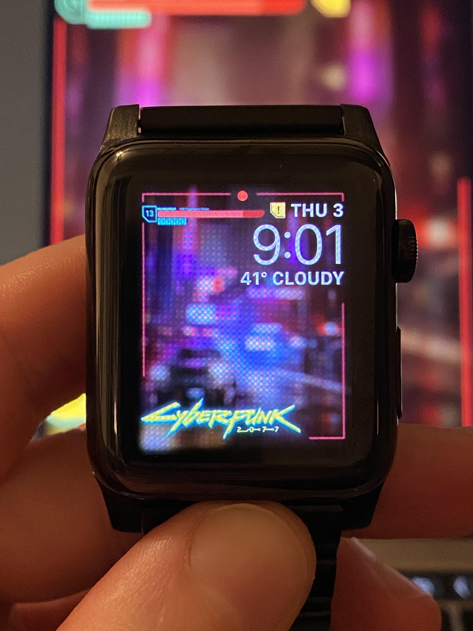 cyberpunk 2077 apple watch face