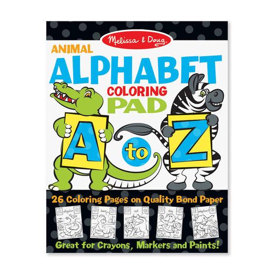 Alphabet Animal Coloring Pad