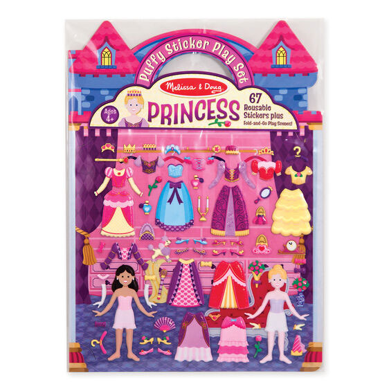 Puffy Princess Reusable Stickers