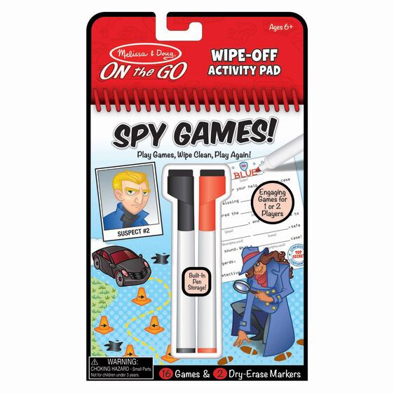 Spy Games Wipe Off Activity Pad