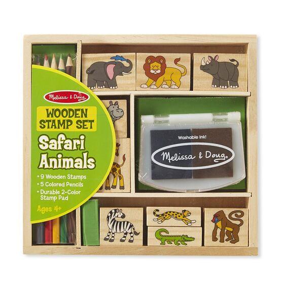 Wooden Stamp Set Safari