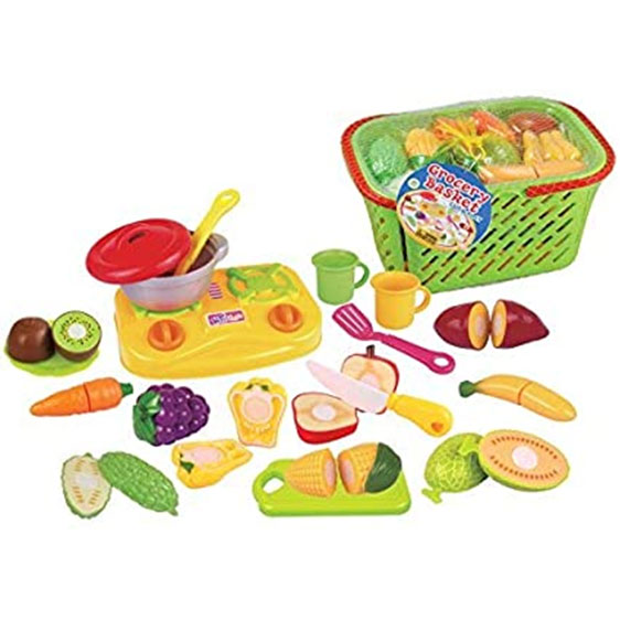 Grocery Basket Cut and Play