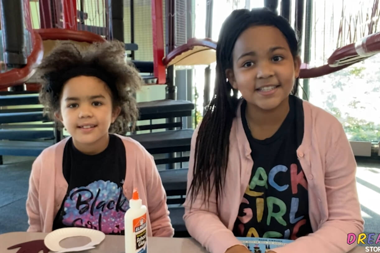 Aaliyah and sister, Ava, visit the museum for storytime