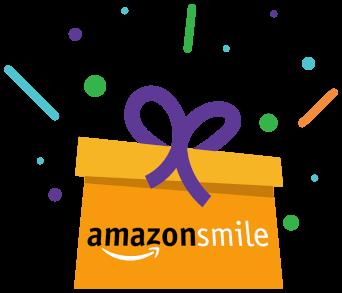 AmazonSmile logo on present graphic