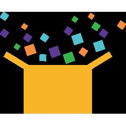 Children's Museum at Holyoke confetti box logo